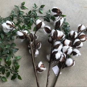 Accents - NWT Fake Cotton Branch Decor